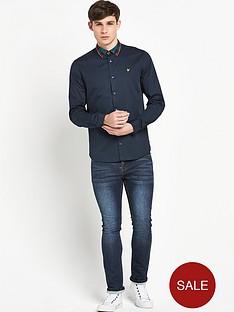 lyle-scott-lyle-amp-scott-tartan-detail-shirt