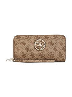 guess-guess-katlin-zip-around-purse-brown