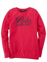 Girls Long Sleeve Polo Top - Pink