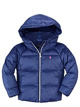 Boys Hooded Down Filled Jacket