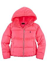 Girls Hooded Down Filled Jacket