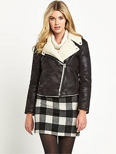 hilfiger-denim-hilfiger-denim-ginny-fake-shearling-biker-jacket