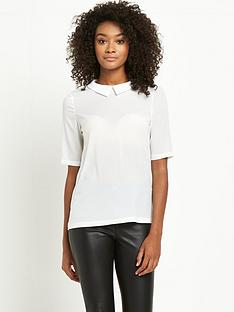 french-connection-polly-plains-short-sleeved-collared-top