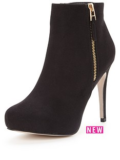 lipsy-bessie-side-zip-heeled-ankle-boot