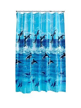 AQUALONA Dolphin Shower Curtain | Very.co.uk