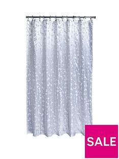 aqualona-metallic-leaf-shower-curtain