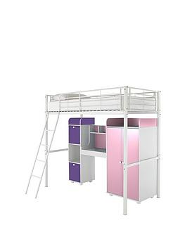 kidspace-new-metro-high-sleeper-bed-with-wardrobe-desk-storage-and-optional-mattress