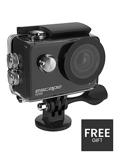 kitvision-escape-hd5w-wifi-action-camera-black-with-free-action-pack-accessories-chest-head-amp-bike-mounts