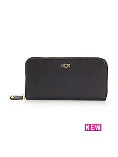 ugg-australia-ugg-rae-leather-zip-around-purse-black