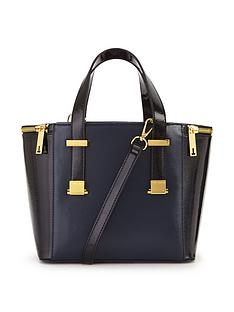 ted-baker-crosshatch-small-tote-bag-navy