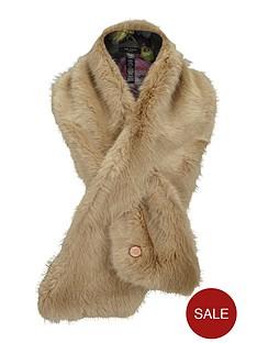 ted-baker-faux-fur-scarf-beige