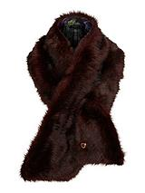 Faux Fur Scarf - Oxblood