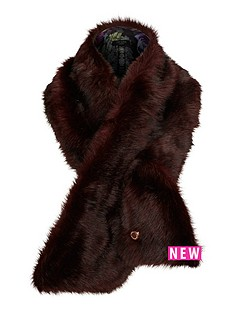 ted-baker-faux-fur-scarf-oxblood