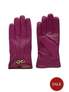 ted-baker-leather-bow-glove-grape