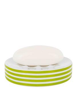 spirella-tubes-stripes-soap-dish-kiwi