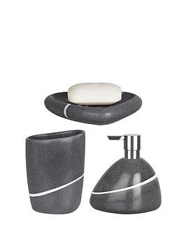 spirella etna set of 3 bathroom accessories stone verycouk