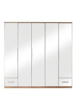cologne-5-door-2-drawer-mirror-wardrobe