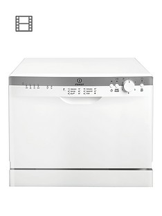 Indesit ICD661 Freestanding 6 Place Table Top Dishwasher - White