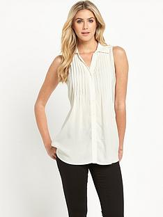 south-sleeveless-pintuck-blouse