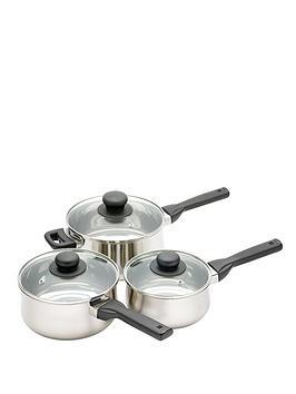 kitchencraft-3-piece-saucepan-set-stainless-steel