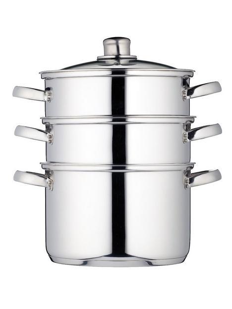 kitchencraft-3-tier-22-cm-steamer-stainless-steel