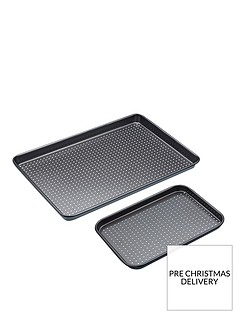 kitchencraft-non-stick-crusty-bake-twin-baking-tray-set
