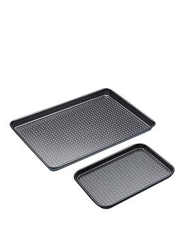 kitchencraft-non-stick-crusty-bake-twin-baking-tray-set