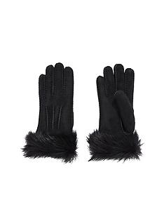 ugg-australia-toscana-shearling-glove-black