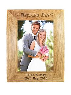 personalised-wedding-day-wooden-photo-frame