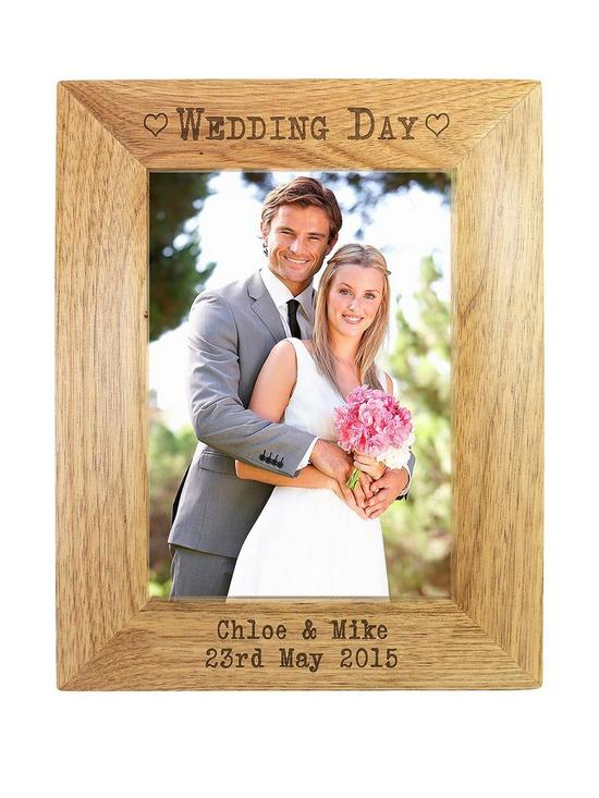 Personalised Wedding Day Wooden Photo Frame Very