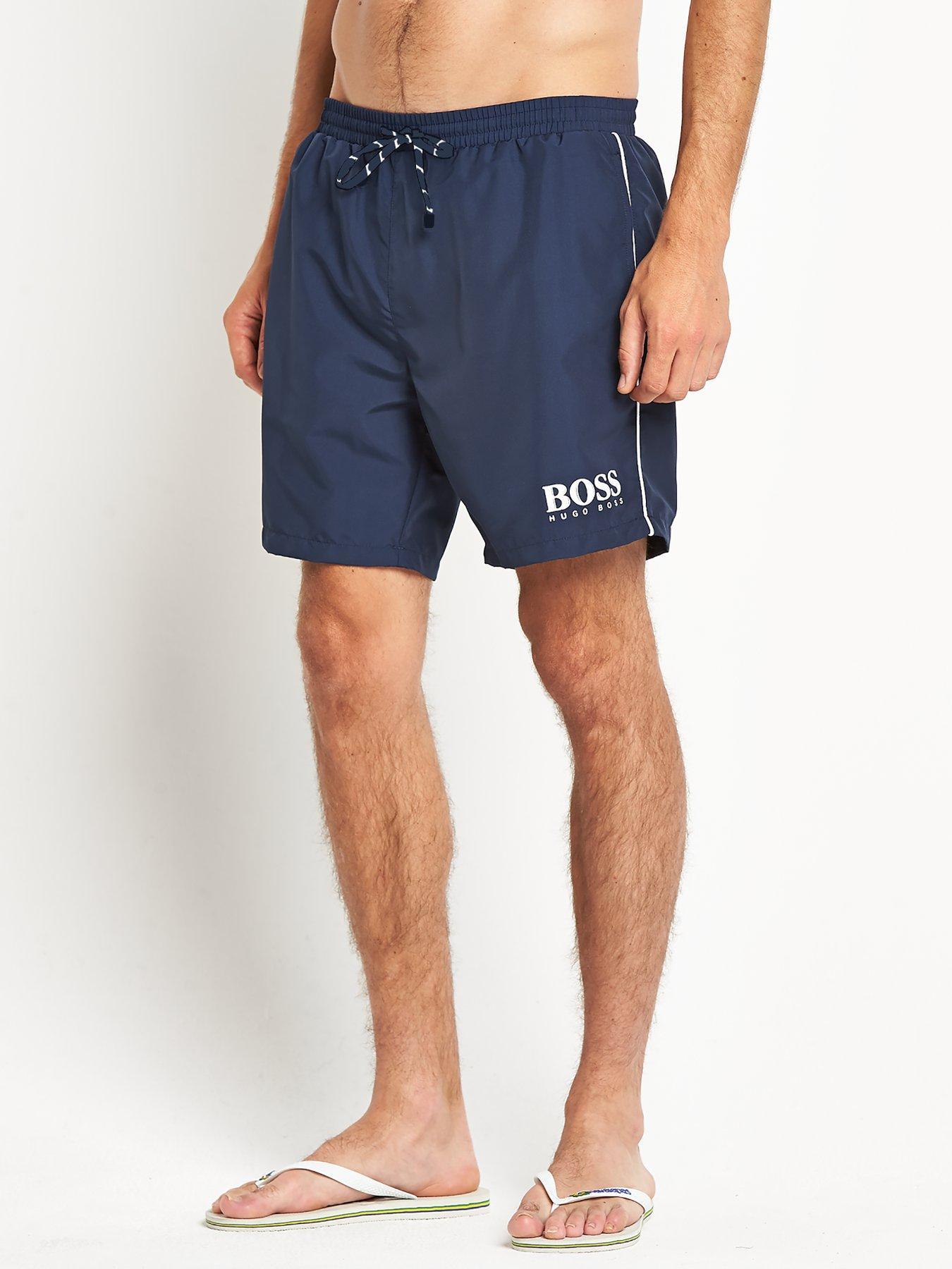 navy hugo boss swim shorts