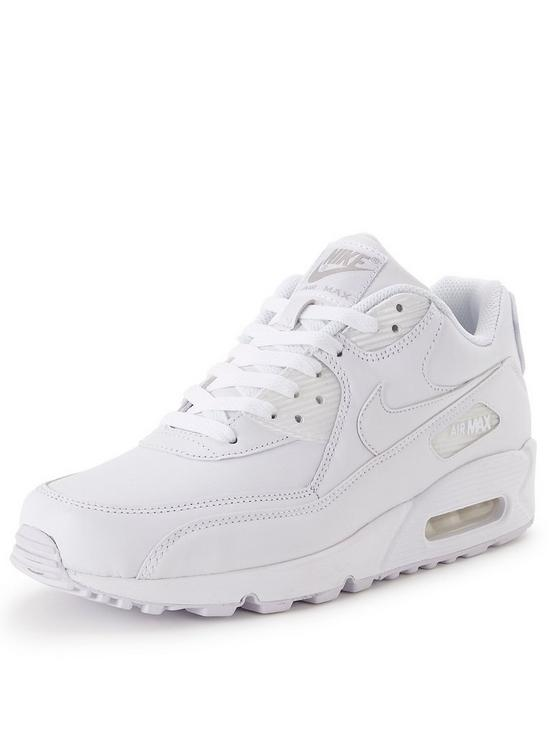 new style f045b b4cfe Air Max 90 Mens Leather Trainers