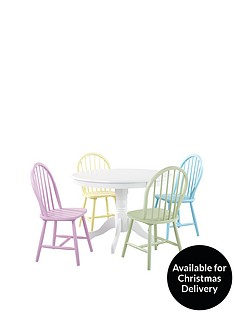 daisy-107-cm-round-dining-table-4-chairs--nbspmulti