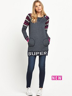 superdry-retro-knit-panel-sweat-dress