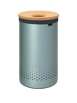 brabantia-laundry-bin-60-litre-with-cork-lid-and-removable-laundry-bag-mint
