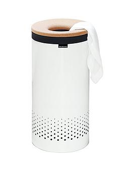 brabantia-laundry-bin-60-litre-with-cork-lid-and-removable-laundry-bag-white