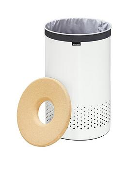 brabantia-laundry-bin-35-litre-with-cork-lid-and-removable-laundry-bag-white