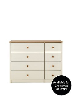 Alderley Ready Assembled 4 + 4 Drawer Chest
