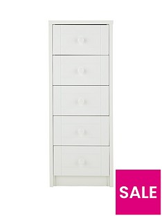 Ready Assembled White Bedroom Chest Of Drawers Home Garden
