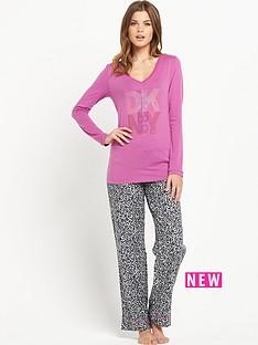 dkny-pink-top-and-animal-print-set