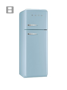 Smeg FAB30RFA 60cm 50s Retro Style Fridge Freezer - Pastel Blue