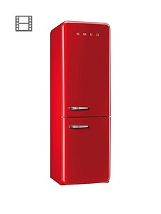 Smeg FAB32RNR 60cm Fridge Freezer - Red