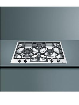 smeg-pgf64-4-62cm-built-in-gas-hob-stainless-steel