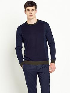 ted-baker-colour-block-crew-neck-mens-jumper