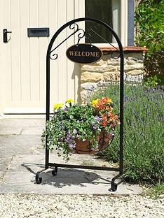 smart-garden-saxon-14-inch-metal-welcome-planter