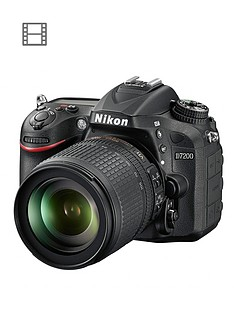 nikon-d7200-242-megapixel-dslr-camera-18-105mm-lens-blacknbspsave-pound65-with-voucher-code-mjwtl