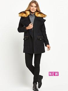 definitions-faux-fur-collar-drape-coat