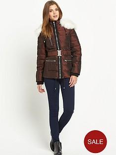 south-two-tone-metallic-padded-coat