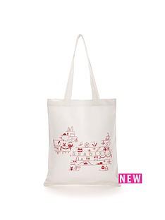 radley-christmas-pooch-canvas-tote-bag