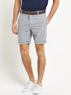 river-island-spider-belted-mens-oxford-shorts